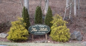 Our entrance sign