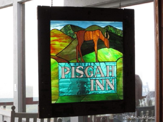 Pisgah Inn Sign in Stained Glass