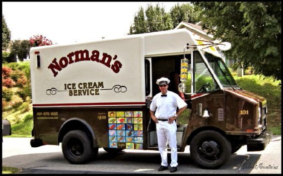 Dwayne, the delivery man standing in front of the Ice Cream Truck