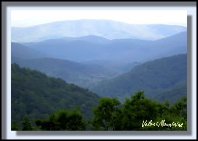 Picture of the North Carolina Mountains --Beautiful shades of blues